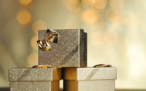 Picture gifts, New year, gold, new year, bow, Golden, merry christmas, bow, Merry Christmas, gifts