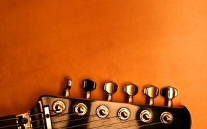 Picture guitar, strings, pick