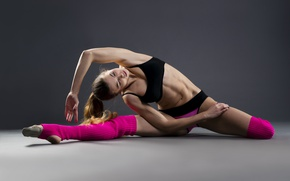 Picture pose, female, workout, yoga, stretching