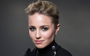 Picture look, background, model, portrait, makeup, dress, actress, hairstyle, photographer, in black, Dianna Agron, Dianna Agron, …