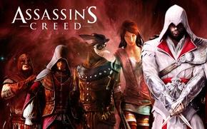 Picture space, nebula, heroes, rear view, killer, assassin, assassin, multiplayer, Ezio auditore da Firenze, ezio auditore …