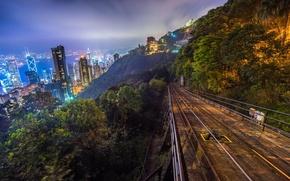 Picture night, the city, home, Hong Kong, Hong Kong