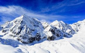 Picture snow, mountains, ridge