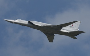 Picture the sky, flight, bomber, missile, supersonic, far, Tu-22M