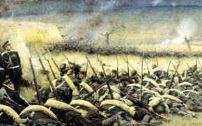 Picture war, storm, Plevna, Vereshchagin