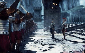 Picture Rome, the ruins, warriors, Son of Rome, Ryse