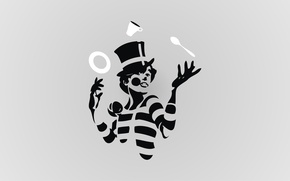 Picture clown, plate, spoon, Cup, zhangler