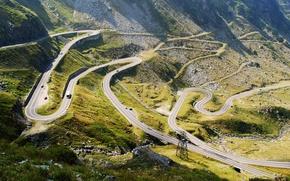 Picture road, mountains, stones, track, highway, panorama, mountain, serpentine, Romania, Transfagarasan