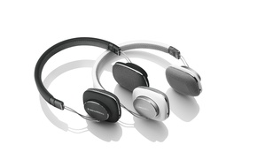Picture white, black, headphones, Bowers&Wilkins