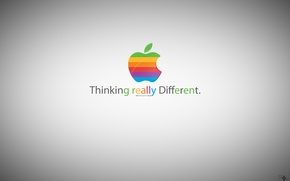 Picture apple, greener apple, thinking really different
