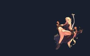Picture girl, elf, art, fantasy