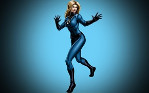 Wallpaper costume, The Invisible Woman, marvel, girl, Marvel Comics, comic, Fantastic Four, blonde, Invisible Woman, background, ...