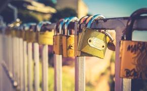 Picture love, macro, padlock
