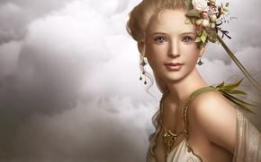 Wallpaper graphics, figure, Portrait, girl