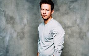Wallpaper actor, Mark Wahlberg, actor, Mark Wahlberg, grey background