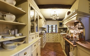 Picture interior, kitchen, design. house, Provans style