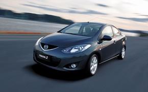 Picture car, sport, Mazda2