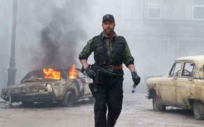 Picture man, glasses, machine, actor, Volga, Chuck Norris, Chuck Norris, Producer, Writer, The Expendables 2, The …