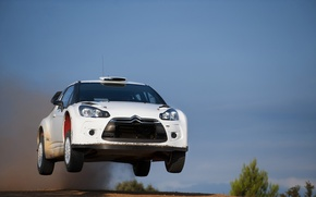 Picture The sky, White, Speed, Citroen, DS3, In The Air