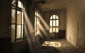 Picture house, style, creative, garbage, Windows, dirt, apartment, repair, rays of light