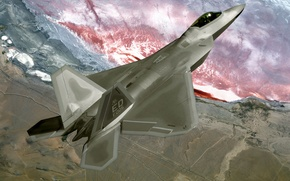 Wallpaper Fighter, F22, Raptor
