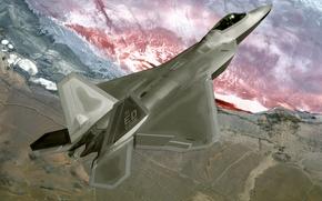 Wallpaper Fighter, Raptor, F22
