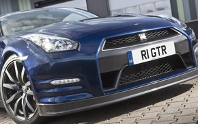 Picture blue, Nissan GTR, re the gtr