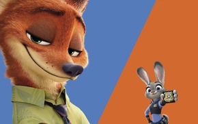 Picture cinema, animation, logo, Disney, star, fox, animals, police, blue, smile, rabbit, cartoon, orange, movie, hair, …