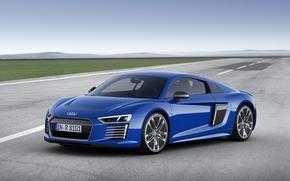 Picture blue, Audi, Audi, e-tron, 2015