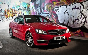 Picture Mercedes-Benz, red, C63