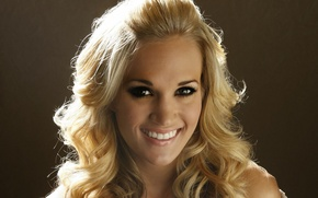Wallpaper brown, look, Carrie Underwood, blonde, country, smile, singer, Carrie Underwood, teeth