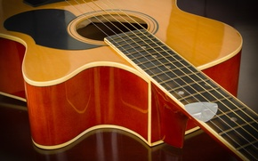 Picture guitar, wood, strings