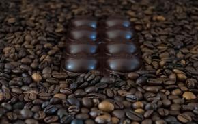 Picture coffee, chocolate, grain