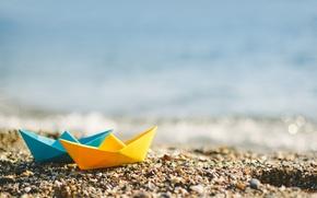 Picture beach, summer, nature, bokeh
