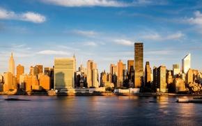 Wallpaper the city, skyscrapers, USA, America, USA, New York City, new York