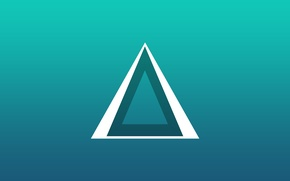 Picture blue, bright, minimalism, triangle, new