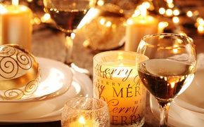 Picture glasses, champagne, decor, holiday, CHRISTMAS