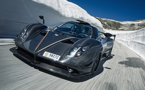 Picture supercar, Pagani, supercar, Zonda, the front, fast, Pagani, carbon fiber, 750 LM