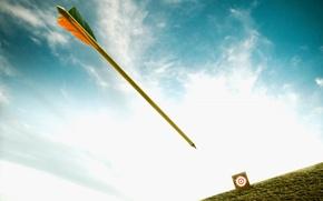 Picture the sky, flight, goal, arrow, target
