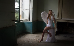 Picture girl, room, angel