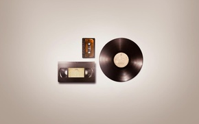 Picture minimalism, record, audio, magazine, minimal Wallpapers, Audio VHS, video