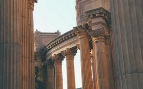 Picture columns, architecture, building