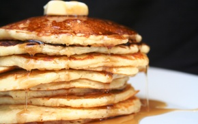Wallpaper pancakes, food, honey