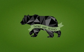 Picture Game of Thrones, black bear, House Mormont, Here We Stand, A Song Fire and Ice, …