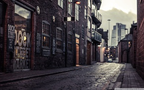 Picture city, street, Vintage, Retro