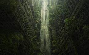 Picture road, trees, the city, Apocalypse, Heath, Wasteland 2