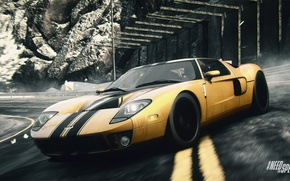 Picture yellow, Ford GT, NFS, Need for Speed, Rivals