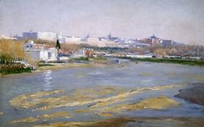 Picture landscape, the city, river, picture, Spain, Madrid, Aureliano de Beruete and Moret, The River Manzanares