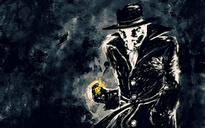Wallpaper Walter Kovacs, smiley, Rorschach, Keepers, Watchmen, Rorschach
