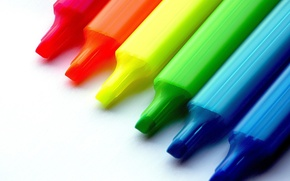 Picture color, Crayons